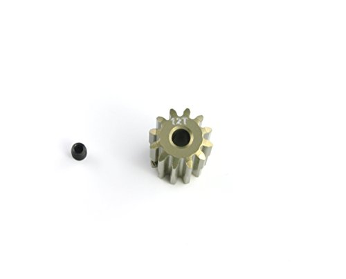 HobbyStar 32DP Pinion Gear, 12T, Hard-Anodized Aluminum, 1/8