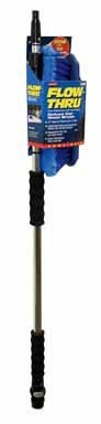 "Carrand 93089 Flow-Thru 10"" Wash Brush with 68"" Aluminum Extension Pole"