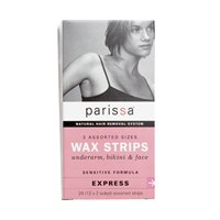 PARISSA WAX STRIPS,SENSTV,ASSORTD, 24 CT