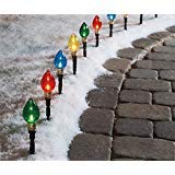 Christmas Bulb Path Lights
