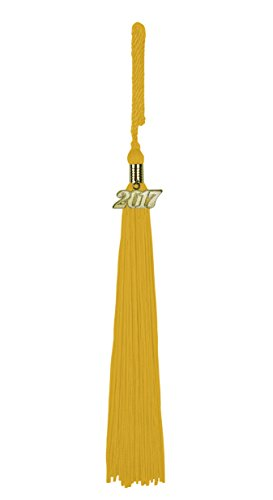 Yellow Gold Graduation Charm (Graduation Year Tassel / Charm,)