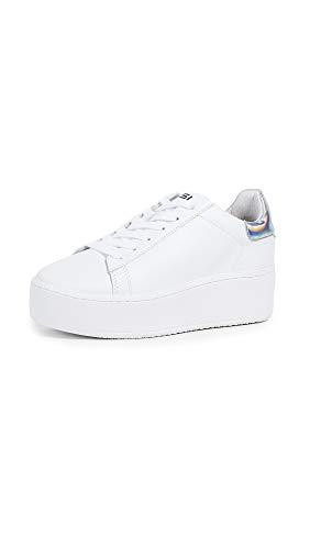 Ash Women's AS-Cult Sneaker White/Rainbow Silver 39 M EU (9 US)