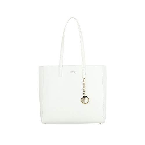Versace Collection Women's Leather Tote Handbag White (Versace Tote)