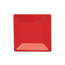 Thunder Group Western Melamine Passion Square Plate, 8 1/4 x 8 1/4 inch - 12 per case.
