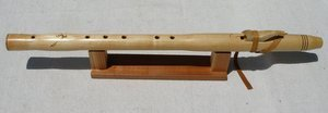 Native American Style Chris Ti Coom Key of E 5-hole Maple Flute