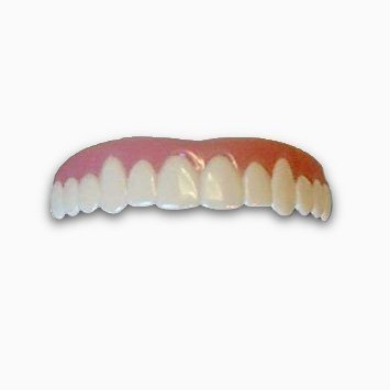Imako Cosmetic Upper Teeth 2 Pack (Small,Bleached)