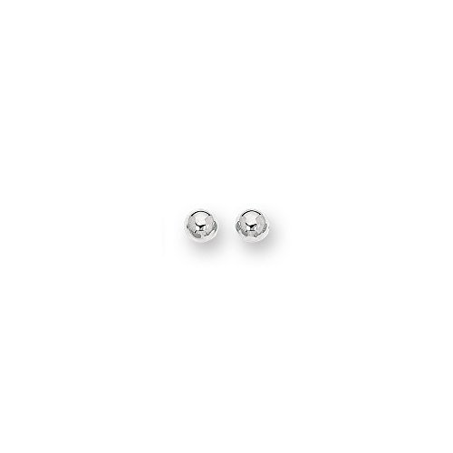 14k White Gold 10.0mm Shiny Ball Post Earrings by JewelryWeb