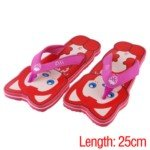 Kawaii Foam Summer Sandals Slippers with Ali Pattern for Indoor/Outdoor(Red/Free Size)