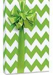 APPLE GREEN & WHITE CHEVRON STRIPE Gift Wrap Wrapping Paper - 16ft Roll (Gift Wrap Stripe Christmas)
