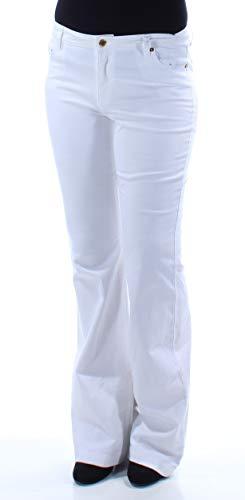 - MICHAEL Michael Kors Womens Selma White Wash Slim Fit Flare Jeans White 10