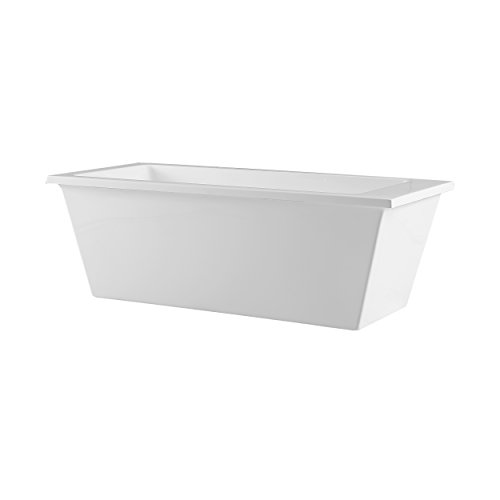 Ove Decors Houston Freestanding Bathtub, 69-Inch by 31-Inch