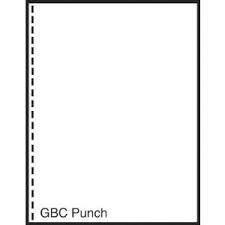 "Laser Cut Sheet Paper 8.5"" x 11"" GBC Punched 19 hole 2500 Sheets per Carton"