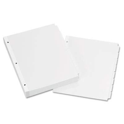 - Avery 11507 Write & Erase Plain-Tab Paper Dividers, 8-Tab, Letter, White (Box of 24 Sets)
