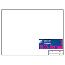 Staedtler(R) Vellum Paper With Title Block & Border, 18in. x 24in., White, Pad Of 10 Sheets