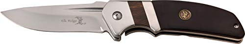 Elk Ridge ER-167BK 3mm Blade Folder Handle Knife, Black Pakkawood, ()