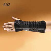 (452-LT Orthosis Wrist/Forearm Titan Felt Left Black Part# 452-LT by Hely & Weber Qty of 1 Unit)