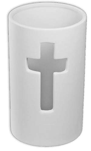 (Cross Pillar Candle Holder - Paint Your Own Ceramic Keepsake)