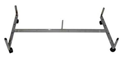 - Only Garment Racks 12-002BL Grid Wall Panel Gondola Base with Casters - Merchandiser - Black 24