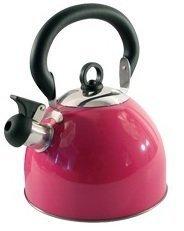 Home cordless 2.5l bollitore con fischio in acciaio INOX leggero con tradizionale/retrò beccuccio per piani di cottura stufa top–rosa–by Guilty Gadgets