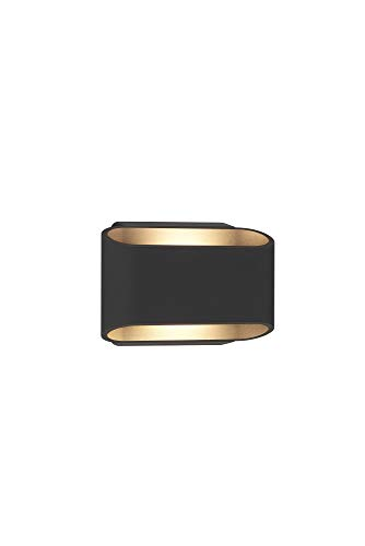 Bruck Lighting 105050bk Eclipse Outdoor 2-Light LED Wall Sconce, Anthracite Finish