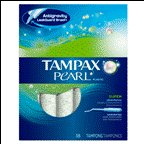Tampax Pearl Plastic Super Unscented 18 CT (Pack of 12)