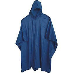 (48 Pack) Adult 10 Mil Reusable Rain Ponchos - Blue by Sara Glove