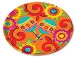 Amscan Fiesta Caliente Cinco De Mayo Party Round Melamine Platter Serveware, Plastic,13'' Supplies , 12 Pieces