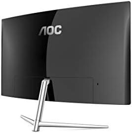 AOC C32V1Q 31.5″ Full HD 1920×1080 Monitor, Curved VA Panel, 4ms 75Hz, Frameless, HDMI/DisplayPort/VGA, Flickerfree, Low Blue Mode, VESA, Black 21yCpAd 2BuPL