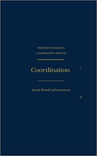 Book Coordination (Oxford Studies in Comparative Syntax)