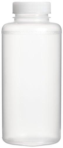 Bel-Art Precisionware Wide-Mouth 1000ml (32oz) Autoclavable Polypropylene Bottles; Polypropylene Cap, 63mm Closure (Pack of 6) (F10632-0008)