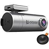 ddpai WIFI Dash Cam Mini2, Car DVR Recorder APP 1440P 2K, Camera Dashboard with Snapshot Button, Rotatable Camera, Parking Monitor Night Vision, Gray