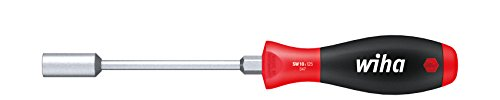 Tools and Home Improvement Power Hand Screwdrivers Nut Drivers Wiha 34715 nut driver with hex bolster and SoftFinish handle. Blade CVM steel hardened. Deep draw 1 inches socket. Hex b