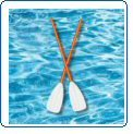 Poolmaster 45″ Convertible Oars/Paddle, Outdoor Stuffs