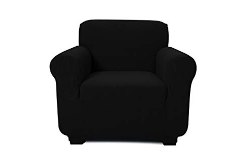 ONE PIECE - ARM CHAIR/1 SEATER SOFA SLIPCOVER, POLYESTER+SPANDEX JACQUARD FABRIC, STRETCHABLE, HOME, HOTEL/MOTEL, RESORT & COMMERCIAL USE, FITS THE BACK OF FURNITURE FROM 32