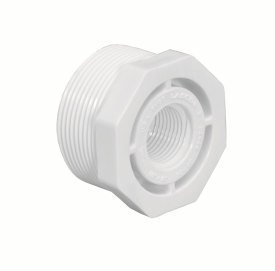 Lasco 439-251 White 2 by 1-1/2-Inch 10-Pack Mipt by Fit Reducer Bushing Replacement for select Lasco Schedule 40 Solvent Weld PVC Pipe