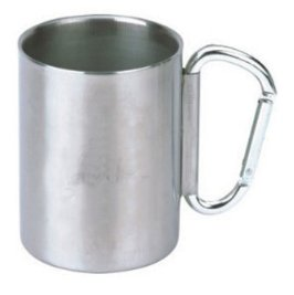 c9b95568f89 Stainless Steel Insulated carabiner mug With new foldable Carabiner (9oz)