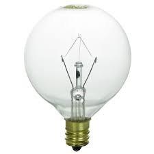 HC Lighting - G16.5 Globe Light E12 Candelabra Base 25 Watt Clear 120/130 Volt Decorative Chandelier and Vanity Light Bulb (10 Pack) (25 Watt)