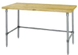 John Boos JNB01 Maple Top Work Table with Galvanized Steel Base and Bracing, 36