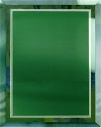 11 x 14 Green Mirror Plaque Engraved with 9 x 12 Green Plate by Gino's Awards Inc