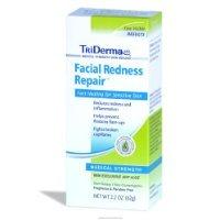 TriDerma Facial Redness Repair Cream, Non-Greasy, Fragrance-Free