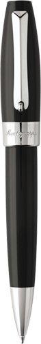 Montegrappa Fortuna Ballpoint Pen - Black/Palladium ISFORBPC (Roller Trim Palladium Ball Resin)