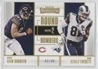 Adam Shaheen; Gerald Everett #63/99 (Football Card) 2017 Panini Contenders - Round Numbers - Gold #RN-9