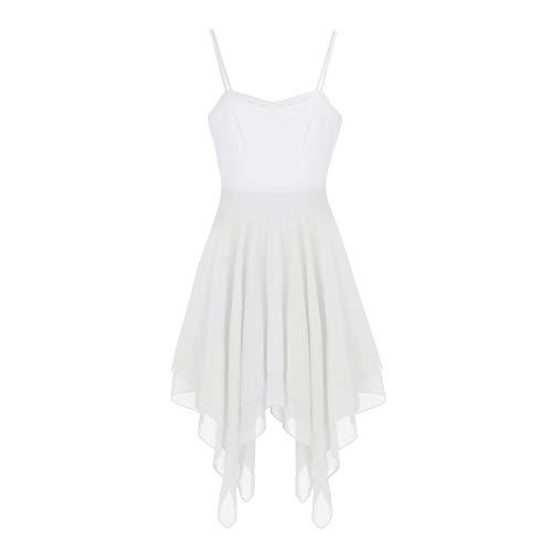 Agoky Gasa Danza de Maillot Falda Traje de Clásico Leotarto Vestido Blanco Elástico Mujer Ropa de Ballet Gimnasia Baile r4Iqrwzn