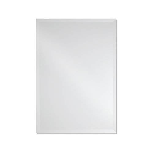 Frameless Rectangle Wall Mirror | Bathroom, Vanity, Bedroom Rectangular Mirror | 20-inch x 28-inch (Small) (Small Frameless Mirrors)