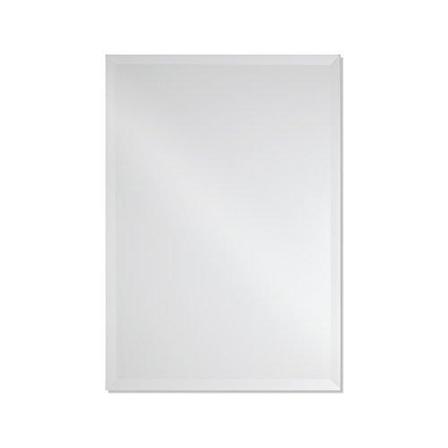 Frameless Rectangle Wall Mirror | Bathroom, Vanity, Bedroom Rectangular Mirror | 20-inch x 28-inch (Small) (Small Frameless Mirrors)