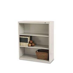 "Tennsco Corporation B-42PY Welded Bookcase, 34-1/2"" Width x 42"" Height x 13"" Length, 3 Shelves, Putty"