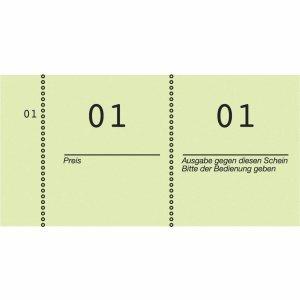 mit perforiertem Abriss 105 x 53 mm AVERY Zweckform Nummernblock 1-1000