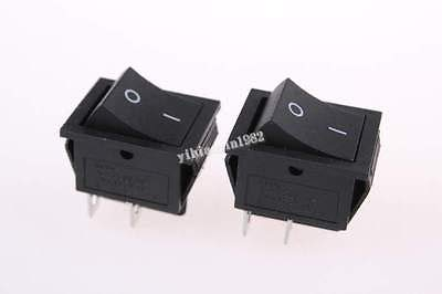 10pcs AC 250V 16A 4 Pin ON Off I O 2 Position DPST Snap in Boat Rocker Switch 28