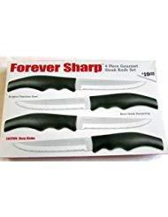 Forever Sharp 4 Piece Gourmet Steak Knife Set
