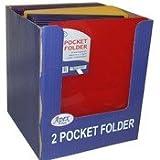 DDI Two Pocket Plastic Folders - ''Snap In'' - 9.5'' x 11.5'' Case Pack 48